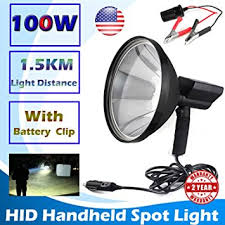 hand held spot light amazon powerful 100w hid xenon hunting flash lights 9 inch 240mm outdoor
