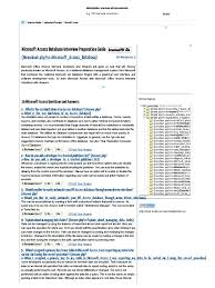 26 microsoft access database interview questions and answers