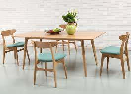 oak table and chairs impressing solid american oak dining table with turquoise chairs of