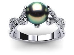 the pearls wedding band wedding rings ideas braided diamond bands black pearl wedding