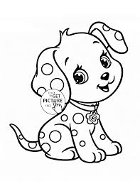 Free Online Cute Puppy Coloring Pages 78 For Your Line Drawings Puppy Color Pages