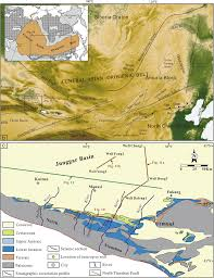 Map Of Central Asia Stratigraphic And Sedimentary Characteristics Of The Upper