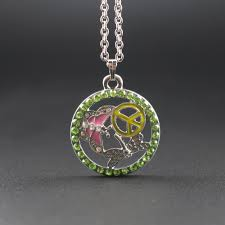 trendy pendant necklace enamel peace butterfly dragonfly design