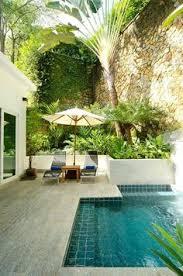 Small Tropical Backyard Ideas Swimming Pool Acqua Pinterest Decorative Walls Palm And Planets