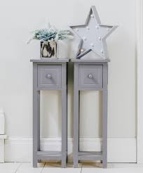 how high should a bedside table be pair of tall slim bedside telephone tables narrow bedroom hallway