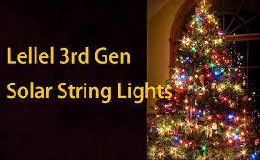 solar christmas lights led string lights lellel 3nd solar outdoor