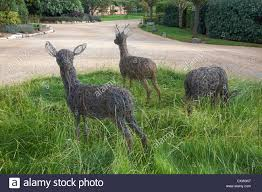 ornamental deer in the grounds of chewton glen hotel spa new