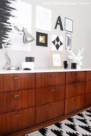 before u0026 after mid century modern credenza with a glossy white