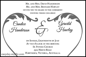 wedding invitations messages wedding invitation wording sle easyday