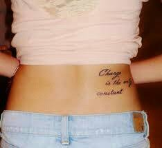 lower back quote tattoos piercings