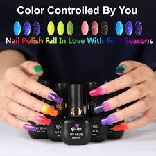 nfuoh chameleon soak off uv gel nail polish salon quality color