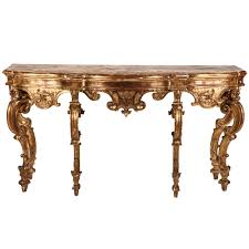 Italian Console Table A Italian 18th Century Giltwood Console Table For Sale