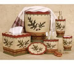oak leaf cabin lodge bathroom accessories rugs mats free shipping
