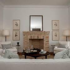 red brick living room fireplace design ideas