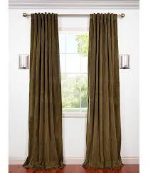 Brown Blackout Curtains Green Brown Blackout Velvet Curtains
