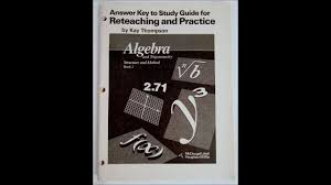 answer key to study guide for reteaching and practice 039547065x