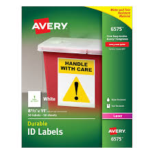 amazon com avery durable white cover up id labels for laser