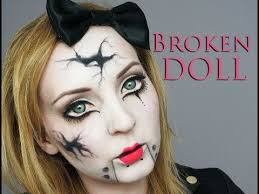 Porcelain Doll Halloween Costume Dress 25 Cracked Doll Makeup Ideas Scary Doll