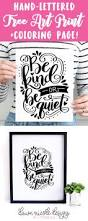 be kind or be quiet free print coloring page dawn nicole designs
