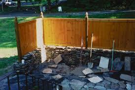 back yard patio wall u0026 privacy fence jps lawn u0026 home