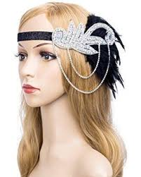 1920s hair accessories get the deal 1920s gatsby flapper feather headband 20s