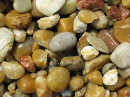 Large Pebbles For Garden Beach by Tan River Rock 1