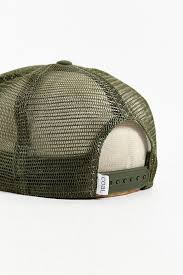 bureau hat lyst coal the bureau snapback trucker hat in green for
