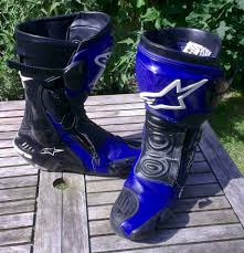 blue motorbike boots alpinestars s mx plus boots bargain beginner biker adventures