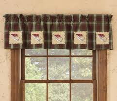 Valance And Drapes Rustic Curtains Cabin Window Treatments