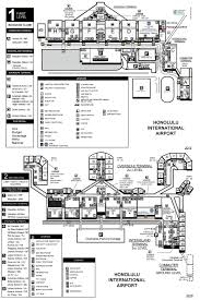 Airport Terminal Floor Plans by Honolulu Airport Map