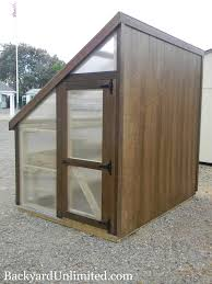 Greenhouses For Backyard Have A Spot Next To Your House Or Fence This 6 U0027x8 U0027 Lean To Style