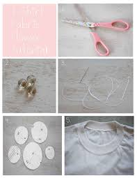tutorial how to recycle t shirts into cute fabric flowers