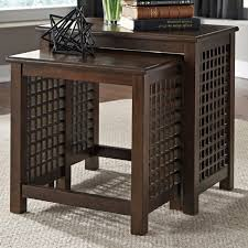 Ashley Furniture Bedroom End Tables Ashley Furniture Roxenton 2pc Nesting End Tables In Brown Local
