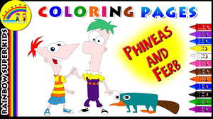 phineas and ferb coloring pages free printable coloring pages