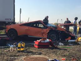 crashed lamborghini for sale huracan performante crashed close to the lamborghini factory
