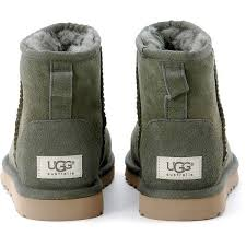 ugg mini shop s ugg ugg mini green ankle boots liked on polyvore