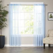 Navy Blue Sheer Curtains Blue Sheer Curtains Wayfair