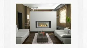see through ethanol fireplaces 2 sided wall fireplaces youtube