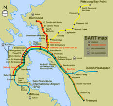 San Francisco Streetcar Map Bay Area Bart Map Houston Flood Map North Country Trail Map
