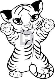how to draw a tiger cub tiger cub step by step drawing guide