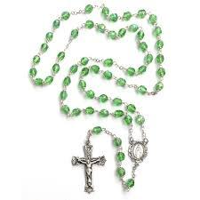 birthstone rosary bohemian glass birthstone rosary peridot august the catholic