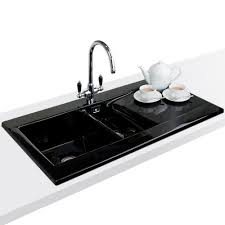 ceramic kitchen sink astini desire 150 1 5 bowl gloss black ceramic kitchen sink