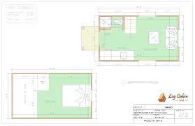 1 room cabin plans