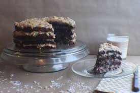 rustic german chocolate layer cake big hair and foodie fare