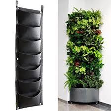 indoor herb garden wall amazon com koram 7 pockets vertical garden wall planter living