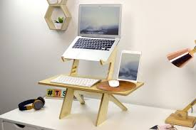 laptop standing desk converter alto laptop stand portable standing desk converter natural birch