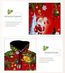 christmas tree jingle bells santa christmas hoodie red xl in