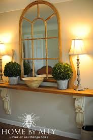 entry way table ideas diy entryway table using corbels architectural salvage home by ally
