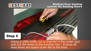 Underfloor Heating For Wood Laminate Floors Best Heat Electric Heating System For Floating Floors Youtube