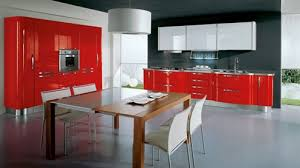 HighEnd Modern Italian Kitchen Cabinets European Kitchen Design - Red lacquer kitchen cabinets